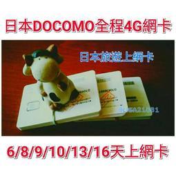 現貨可面交 日本全程高速4G 無限流量 上網卡 Docomo 八天 4G網路 吃到飽 日本上網 日本網卡 無限上網