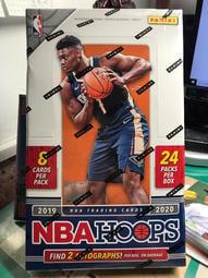 NBA 2019-20 Panini Hoops Basketball 籃球卡 卡盒 Zion