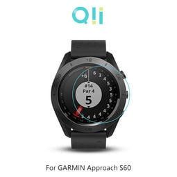 現貨 兩片裝 Qii GARMIN Approach S60/S62 玻璃貼 鋼化玻璃貼 自動吸附 手錶保護貼