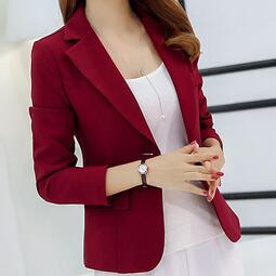 《預購》IEGO~MA16~春夏新款小西裝 韓版純色西服外套 修身長袖顯瘦外套 時尚流行洋裝 上班族服飾 女性服裝