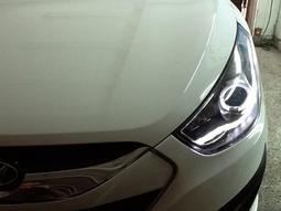 ☆2015年新款HYUNDAI現代IX35休旅車專用魚眼晶鑽霧燈☆超低價☆再追蹤就沒了SANTA