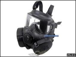 【野戰搖滾-生存遊戲】美軍 M50 防毒面具造型風扇面罩、面具【黑色】眼鏡族可用防彈面罩SWAT面具防霧面具風鏡
