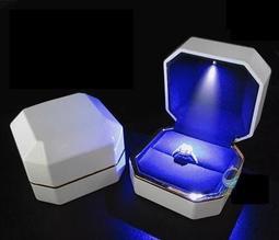 [LALA喵小舖]求婚必備 LED燈戒指盒子 鋼琴烤漆 項鍊盒子 耳環盒子 珠寶盒子 情人節禮物 母親節禮物 生日禮物