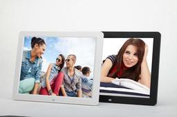 送卡套全新方案 超薄增強版 12吋 數位相框12寸電子相框 支援高清播放/LED高清屏 鬧鐘 日曆電影遙控器