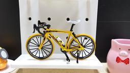 全新 輪胎可轉動 仿真公路車模型 1:10可活動式轉動 (鋁合金) 迷你單車模型 自行車模型