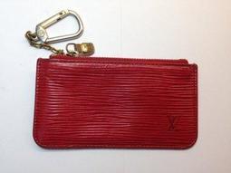 LV 紅色 Louise Vuitton 零錢包EPI鑰匙包 錢包 短夾㊣ 二手真品 有BV Chanel