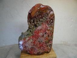 昌化雞血石  精雕...花 擺件