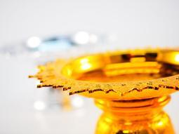 還願佛牌 泰國 親請 泰式 蓮花 供盤 雕花 尺吋 多 金 銀