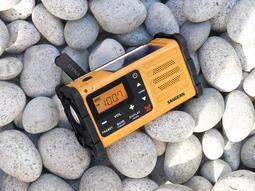全新 SANGEAN 山進 MMR-88 AM/FM 調頻調LED收音機 手搖太陽能 緊急USB電源登山 防災 停電跳電