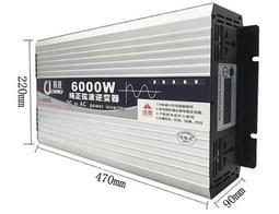 12V現貨 純正弦波逆變器6000W 12V24V48V轉110V 車用 露營 夜市 攤販 停電 太陽能 車載電源轉換器