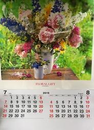 西元2019年民國108年花的贈物直式膠片月曆每本180元另有日曆農民曆三角桌曆尚未開通支付連