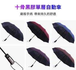 【瑋創個人小舖】十骨黑膠自動傘折疊傘 自動傘 十骨折疊傘 遮陽傘 抗uv傘 自動折疊傘
