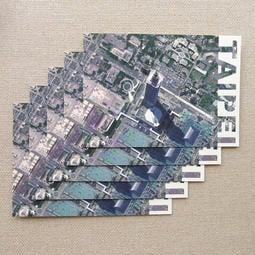【BuyWowPuP小白襪】台灣城市地景系列 明信片『台北 101』 [套裝5入]