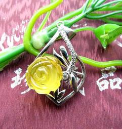 純天然波蘭琥珀黃珀原礦金包蜜金絞蜜蜜蠟玫瑰花掛墜吊墬墬子掛件項鍊水晶珠寶玉石寶石首飾飾品專櫃精品