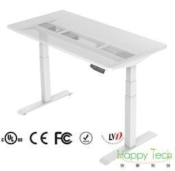 【快樂桔子電動升降桌】DT203A-W人體工學電動升降桌腳架(防夾/辦公工作桌/電腦桌/主管桌/兒童成長桌/書桌)雙馬達