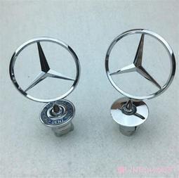 適用於Mercedes Benz賓士奔馳前機蓋標立標 C級E級S級 E200 E260L C200L 車標改裝