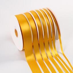 彩帶 0.6-4cm金黃絲帶緞帶布綢帶彩帶婚慶活動飄帶絲帶烘焙彩帶高密
