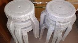2手出清 歐式雕花 超耐用圓椅 萬年椅 萬年凳 會議椅 四腳椅 加厚塑膠椅 休閒椅