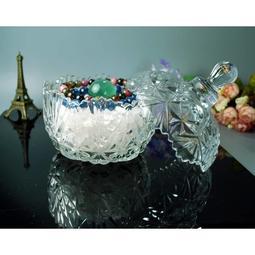 水晶玻璃盅小鑽石造型。附贈400克水晶碎石★甜蜜水晶★水晶寶貝的窩♢消磁碗♢水晶消磁♡聚寶盆。