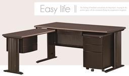 【南洋風休閒傢俱】時尚造型辦公桌系列-胡桃 JX282-1
