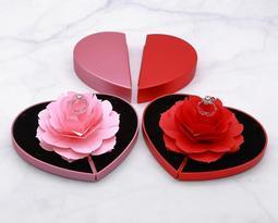 戒指盒 玫瑰花戒指盒 求婚禮盒 禮物 禮品盒 求婚戒指盒 求婚神器 項鏈盒子 珠寶盒 情人節禮物 求婚道具 首飾盒