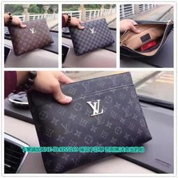 海外代購 Louis Vuitton LV路易威登藤原浩經典灰花紋 藤原浩 LV 聯名設計款 手拿包 男用
