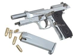 Blackcat Mini Model Gun - M92F (Shell Eject, Silver) For Display Only