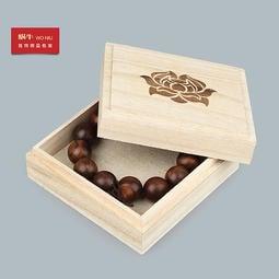 11*11  大號正方形桐木盒高檔108顆佛珠盒 木質首飾玉鐲手鏈手鐲手串禮品車掛桐木盒子批發