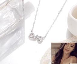永恆愛願項鍊♥銀1入 鍊最長約42cm (可調) (銀銅鍍K)