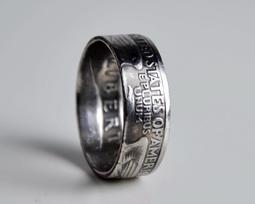 手工25美國硬幣戒指韓版霸氣指環情侶戒指對戒男女尾戒個性潮飾品 摩法世家