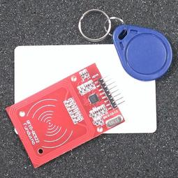 【飆機器人】13.56 RFID mifare 讀卡機 NFC RC522 IC卡(送卡+鑰匙扣)