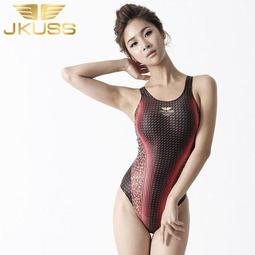 Jkuss 夜鑽系列-紅寶石,高抗氯,專業練習比賽泳訓競賽泳衣泳裝,貼身時尚,女性大女少女,韓國製造