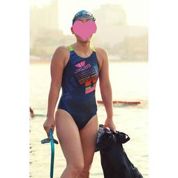 Jkuss 大師彩紋系列-繽紛,高抗氯,專業練習比賽泳訓 競賽泳衣泳裝,貼身時尚,女性大女少女,韓國製造