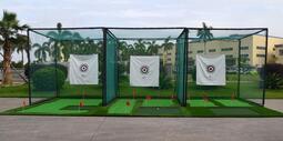 高爾夫練習網 練習場打擊籠 揮桿練習器 配室內推桿果嶺套裝 套餐三定製 @可開統編