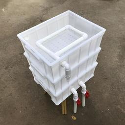 4號周轉箱外置過濾盒自制DIY魚缸過濾箱水族箱上濾滴濾龜箱過濾器ATF--
