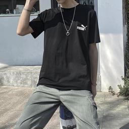 Puma 彪馬 短袖男女T恤 logo印花 夏季ins 潮牌 寬松BF風 情侶運動休閑服 T恤 短袖 4675