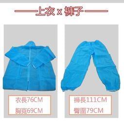 《現貨》分離式不織布隔離衣【藍色】-剩100件