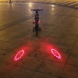 【快速出貨】  自行車燈夜騎警示車尾燈兒童平衡車裝飾燈usb充電單車裝備配件 【優佳百貨】