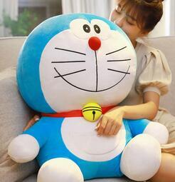哆啦a夢公仔叮當貓玩偶大娃娃機器貓毛絨玩具藍胖子抱枕多啦愛夢