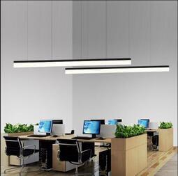 快速出貨~110V-220V寬電壓 創意長條形工作會議室健身房LED辦公室工程吊燈