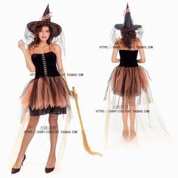 現貨綠野仙蹤尾牙服舞臺表演成人兒童COS黑色女巫巫婆扮演親子服裝