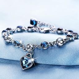 vanmbo 十二星座水晶手鏈女ins小眾設計元素水晶韓版簡約浪漫手鏈