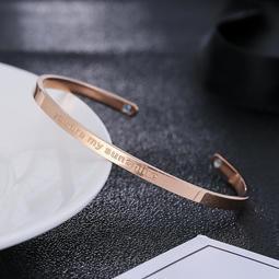 玫瑰金鈦鋼開口手鐲C型 磁鐵 保健 真空爐內 電鍍 百搭 首飾